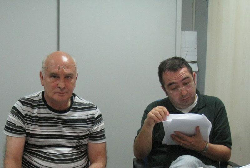 Da sinistra: Pietro Pizzingrilli (Fisascat-cisl), Alessandro Pompei (Filcams-cgil)