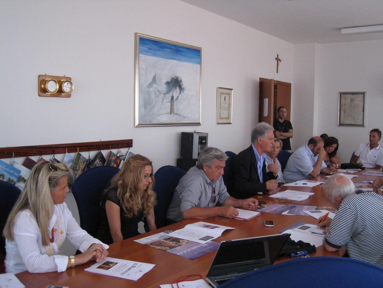 Da sinistra: Maria Rubina Sturba, Barbara De Angelis, Pietro Di Pietro, Piero Celani, Andrea Antonini