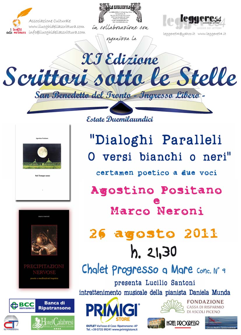 Dialoghi paralleli: o versi Bianchi o versi Neri