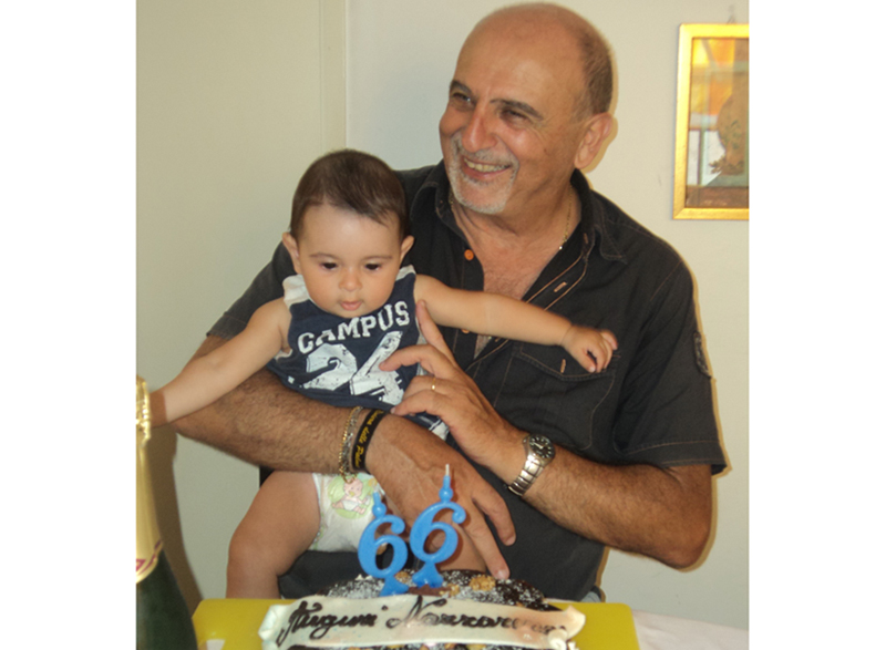 Il nostro direttore con il nipotino Giovanni