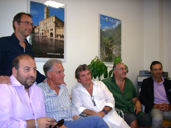 Nabucco, l'amministrazione provinciale con il regista Cabassi
