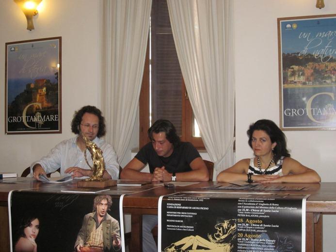 Da dinistra: Federico Paci, Enrico Piergallini, Rita Virgili