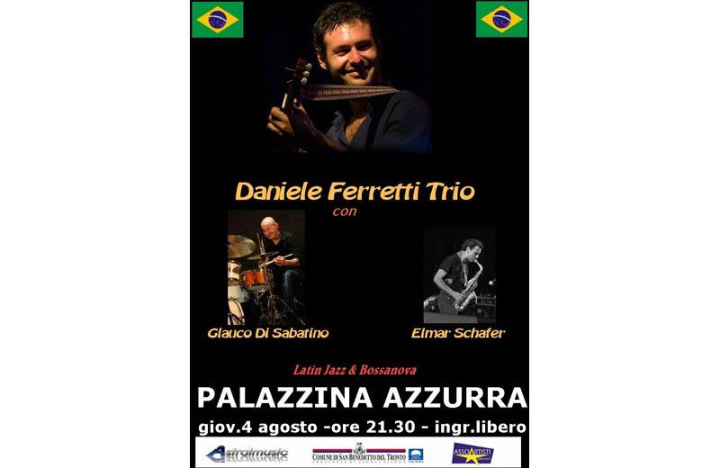 Musica brasiliana in Palazzina con il Daniele Ferretti Trio