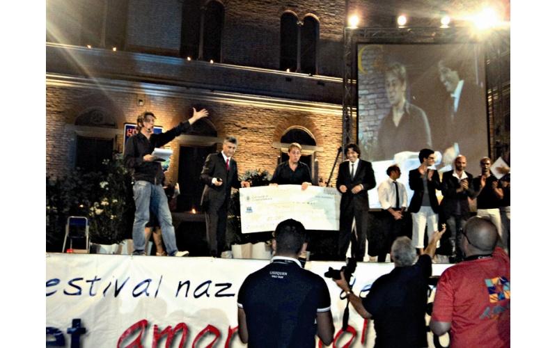 Enrico Piergallini, premiazione Cabaret Amore mio 2011
