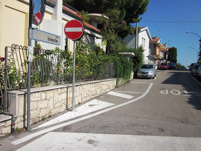 Il nuovo senso unico in Via Trieste
