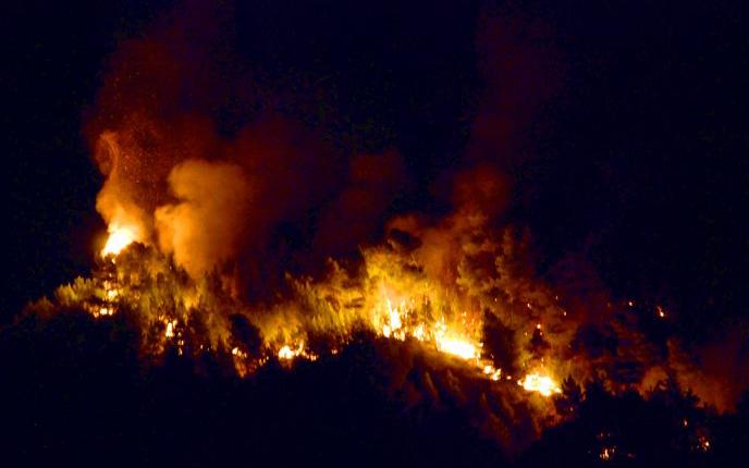 Incendio Ripatransone, 27 agosto 2011 (ph. Marco Orlandoni)