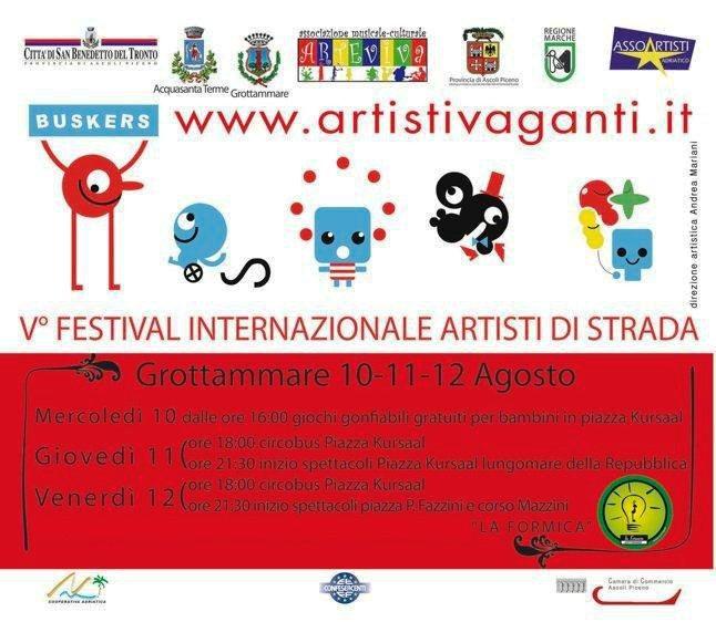 Locandina Artisti Vaganti Grottammare 2011