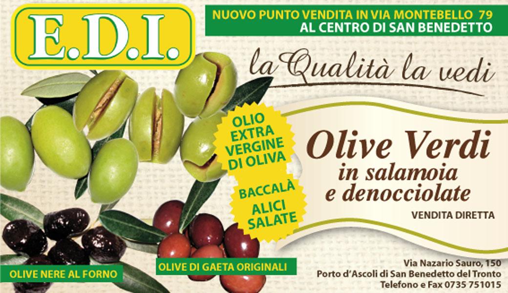 Edi, olive in salamoia e denocciolate