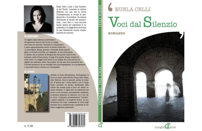 """La copertina di """"Voci dal Silenzio"""" dell'autrice sambenedettese Nuela Celli"""