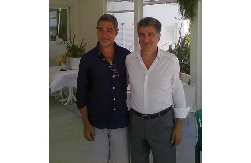 Andrea Concetti con il sindaco di Grottammare Luigi Merli