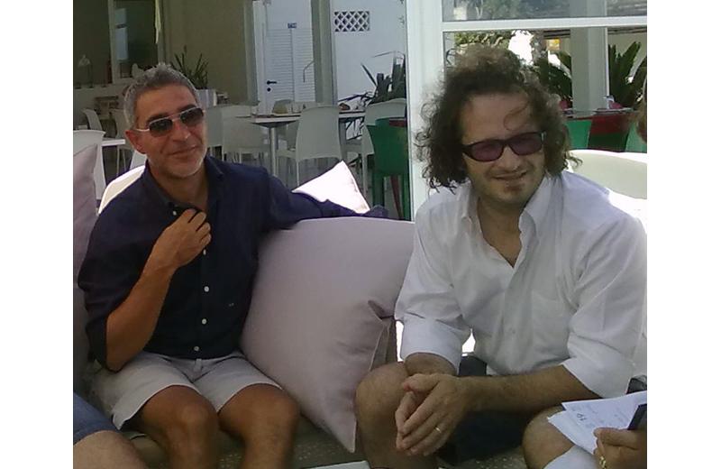 Andrea Concetti con il direttore artistico del Festival Liszt Federico Paci