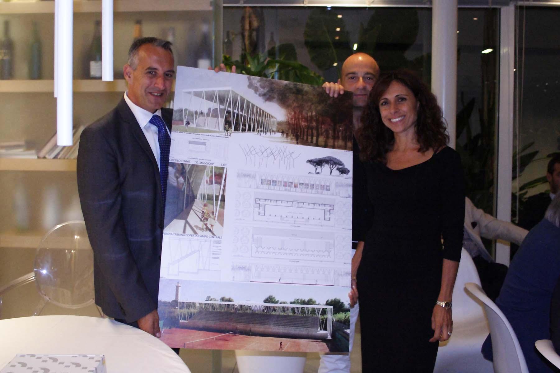 Circolo Tennis Maggioni, il progetto degli architetti Donatella Di Paolo e Alfredo Di Concetto qui con Afro Zoboletti