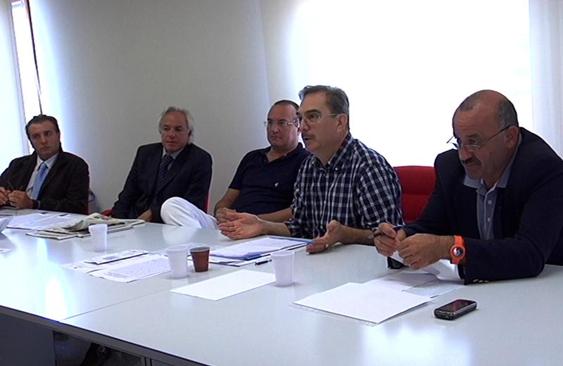 Dalla destra Igino Cacciatori, Luciano Pompili, Fausto Calabresi, Giorgio Fiori e Ferdinando Ciabattoni