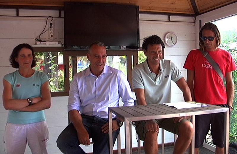 Il presidente del circolo Maggioni Afro Zoboletti con i maestri federali Lilly Consolani, Massimo Mascetti e Marco Mercuri