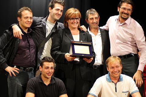 Lo staff dello chalet Oltremare premiato con la Palma d'oro 2011