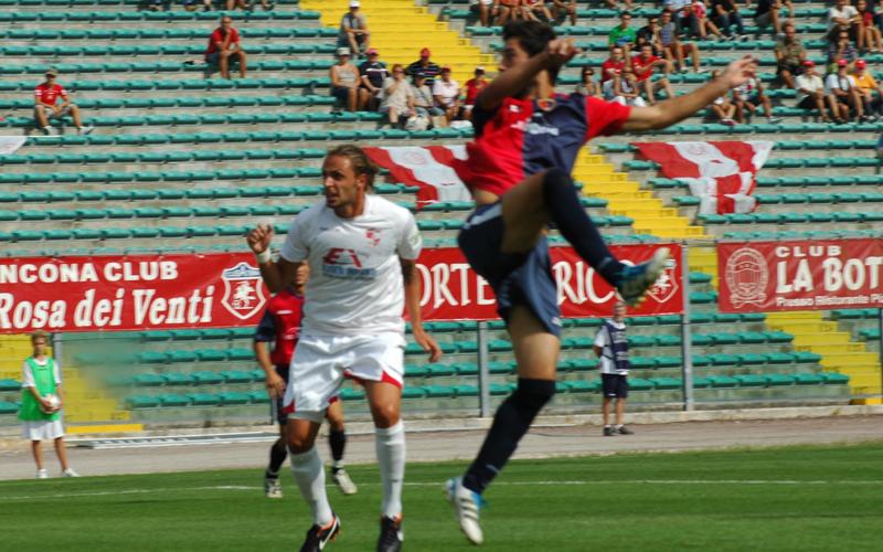 Pazzi, gol ad Ancona (ph. Giammusso)