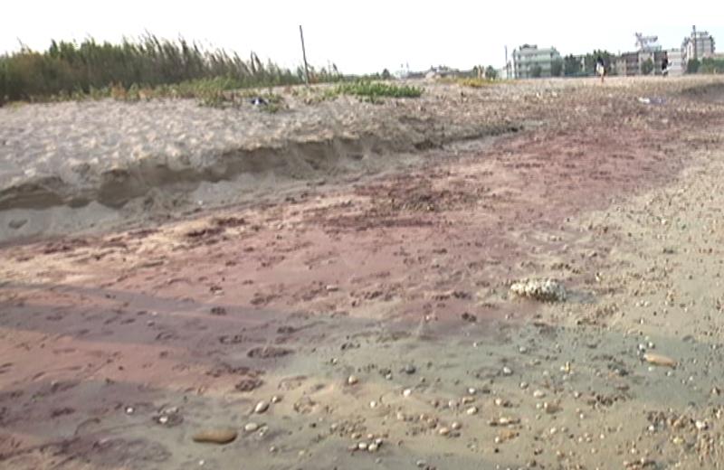 Sabbia rossa alla Sentina