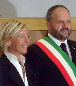 Il sindaco Gaspari e l'assessore Sorge