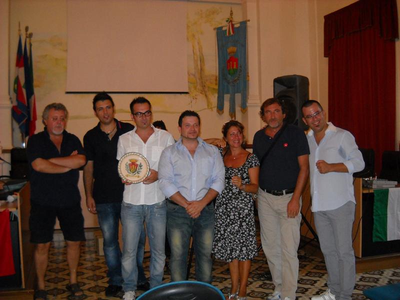 ass. al turismo Marco Malaigia, gli Ekual Ciro D'Alessio e Sergio Morganti,Lara Amadio e Arnaldo Adami, Pino Neroni e Luca Sestili