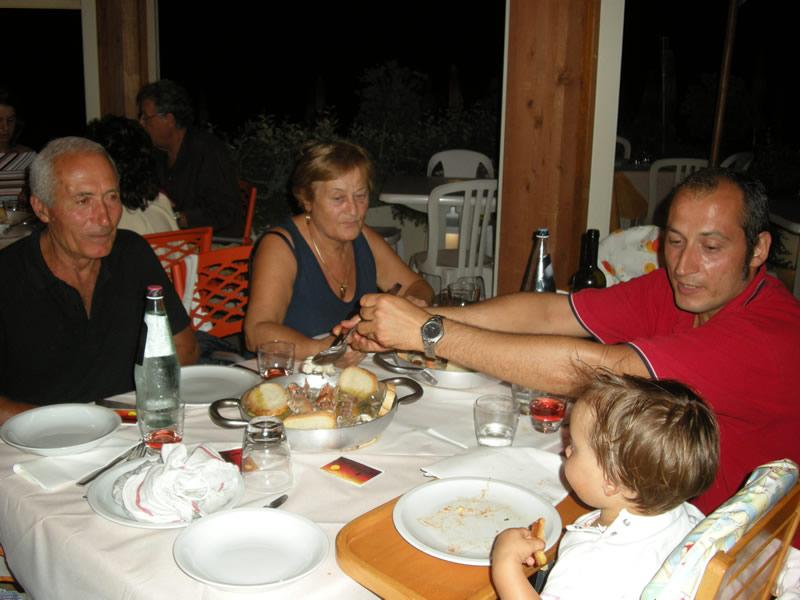 Cena a base di brodetto allo chalet