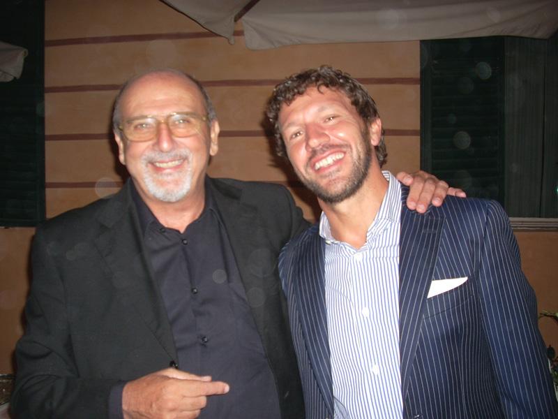 Il nostro direttore con l'ex rossoblu Paolo De Matteis
