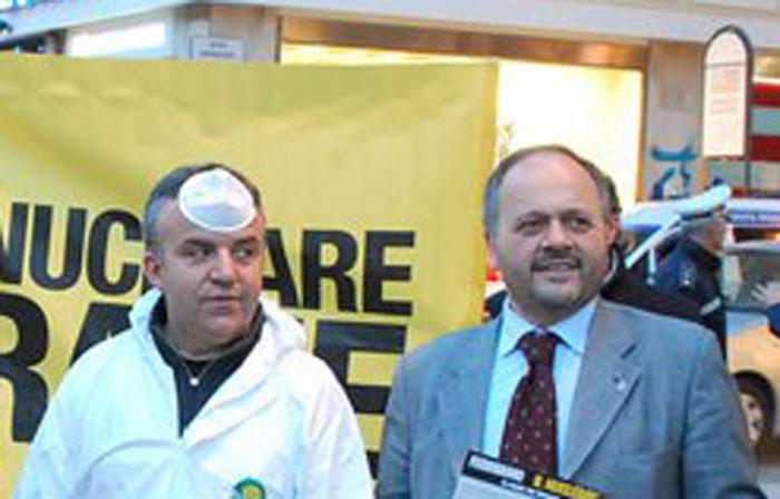 Andrea Marinucci col sindaco Gaspari