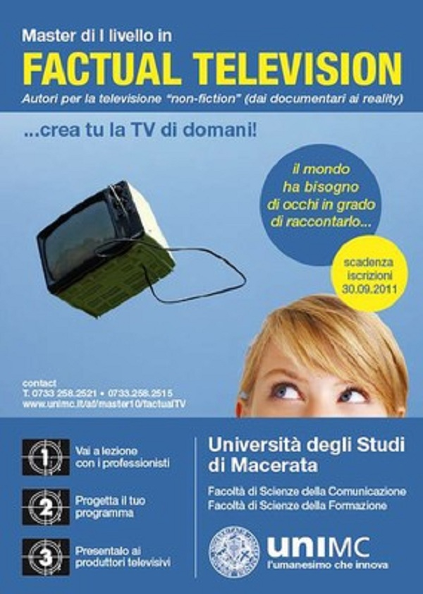 Master in Factual Tv - Università di Macerata