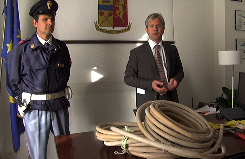 Conferenza furti di rami, il commissario Filippo Stragapede