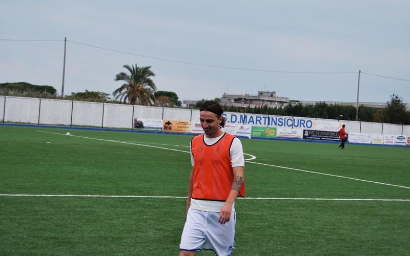 Il match-winner Marco Di Paolo durante il riscaldamento