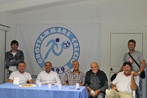 Foto incontro Dirigenti Grottammare Calcio con rappresentanti Figc Lnd