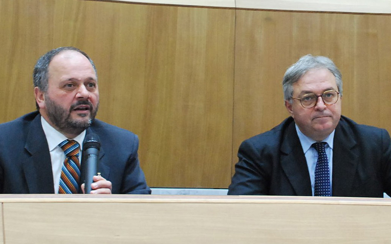 Giovanni Gaspari con Gian Mario Spacca
