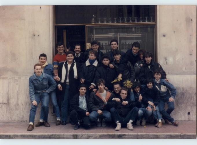 I ragazzi del Bar Hobby nel 1986