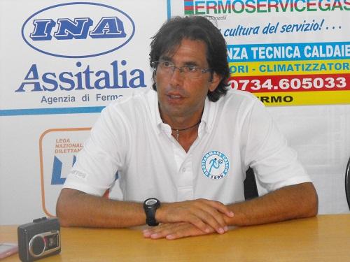 Il tecnico del Grottammare Luigi Zaini (foto tratta dal sito ufficiale della Società biancoceleste)