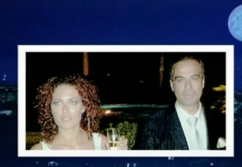 Vanessa Leonardi e Maurizio Compagnoni il giorno del matrimonio (foto da Raiuno)