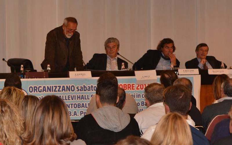L'Itb al Sun di Rimini, da destra Emiliano Favilla, il presidente Giuseppe Ricci, Piero Bellandi, Gianfranco Palestini