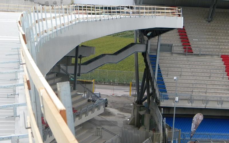 La Curva Sud dello stadio vista dall'alto