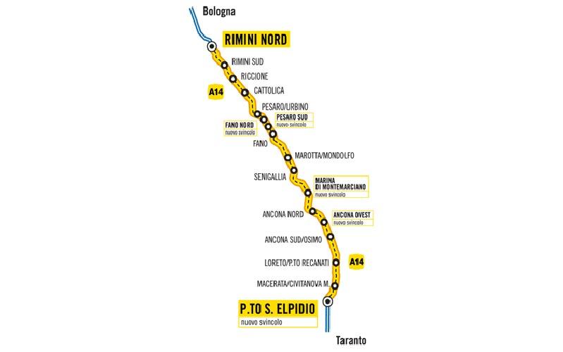 La tratta Rimini Nord-Porto Sant'Elpidio interessata dai lavori per la terza corsia copia