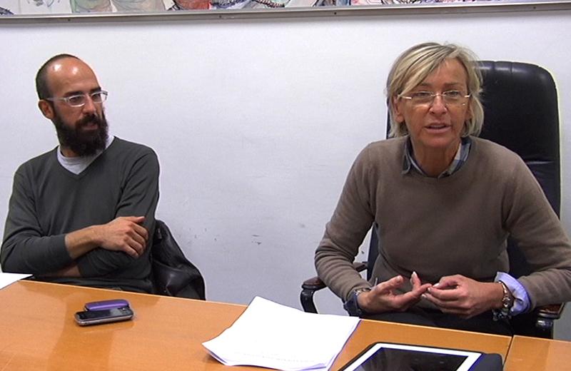 L'archeologo Michele Massoni con l'assessore Margerita Sorge