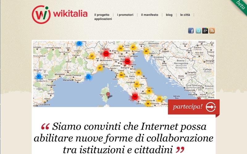 L'home page di Wikitalia.it