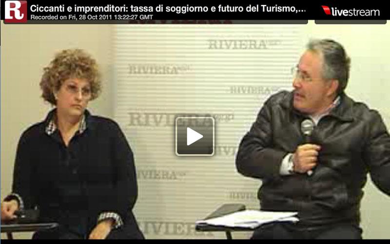 L'imprenditrice turistica Enrica Ciabattoni e l'onorevole dell'Udc Amedeo Ciccanti
