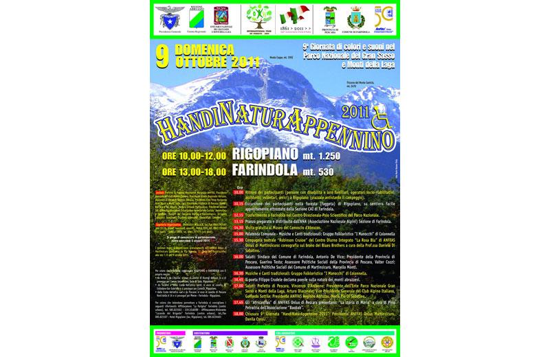 HandiNaturAppennino, programma del 2011