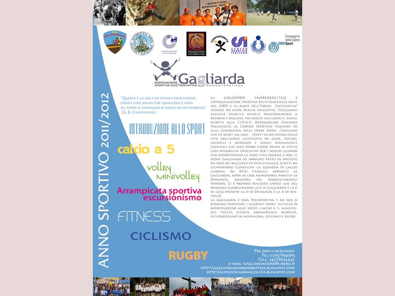 Locandina delle attività sportive della Gagliarda Sambenedettese