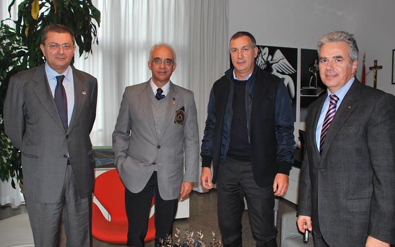 Marco Calvaresi con Luigi Olivieri, Francesco Ottaviani e Raniero Viviani