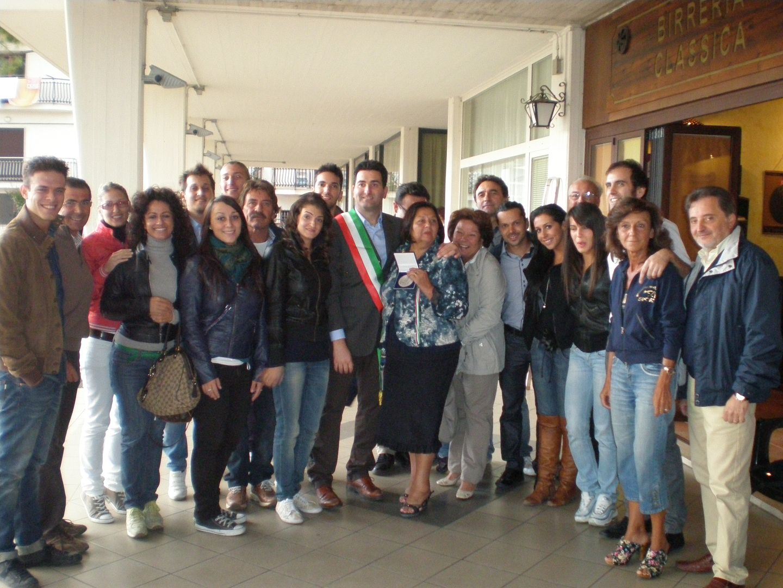 Mezzogiorno in famiglia, la squadra con il sindaco Stracci e alcuni amministratori