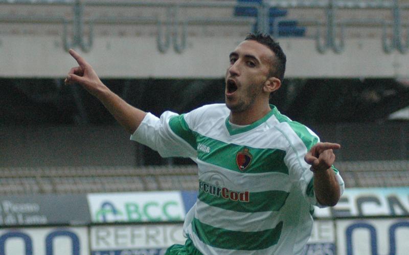 Puglia esulta dopo il gol all'Atessa (ph. Giammusso)