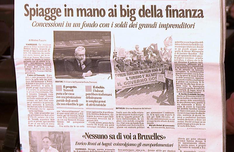 Spiagge in mano ai big della finanza, una pagina del Tirreno