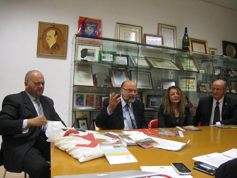 Da sinistra: Giovanni Gaspari, Valerio Marchetti, Raffaella Milandri, Giuseppe Capretti