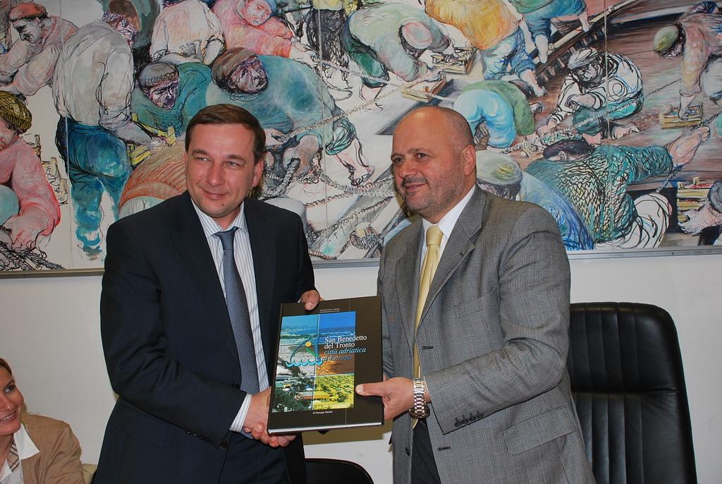 Gaspari con la delegazione di Rivne