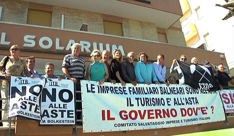 Contro la Bolkestein, manifestazione e studio dell'Itb e di altri movimenti balneari italiani