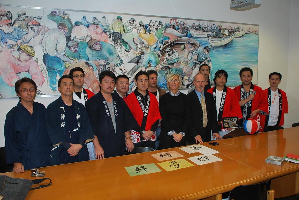 Margherita Sorge con la delegazione giapponese